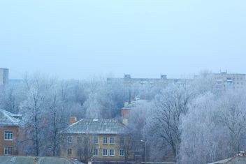 Houses and trees in winter town, Podolsk - image #182571 gratis