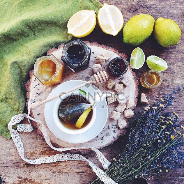 Чай с лимон и мед - бесплатный image #183231
