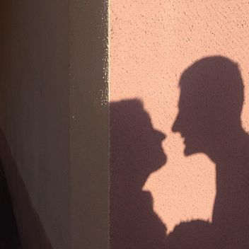 Shadow of happy couple - Kostenloses image #183661