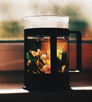 Herbal tea in teapot - image #183741 gratis