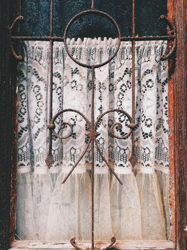 Iron bars on window, closeup view - Free image #183801