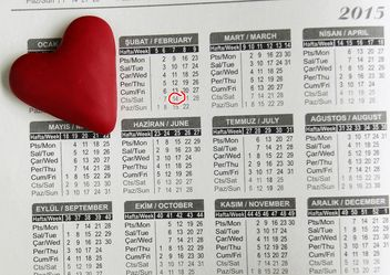 Heart on the calendar - image gratuit(e) #183891