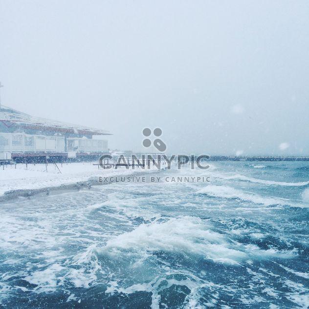Sea and snowfall - Free image #183941