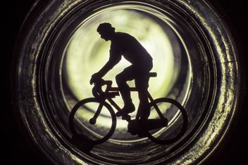 Bicycle toy silhouette - Kostenloses image #183981