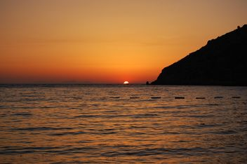 Sunset on the sea - Kostenloses image #185781