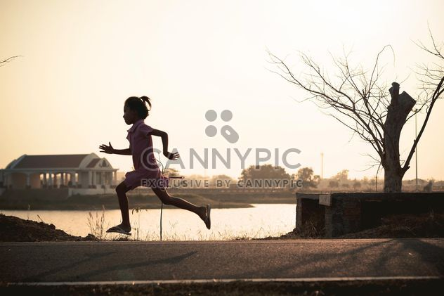 Girl running in park - Free image #186091
