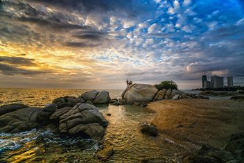 Sunset on Pattaya beach - image gratuit #186111