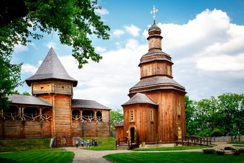 Wooden fort in Baturyn, Ukraine - Kostenloses image #186171