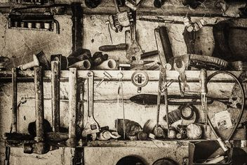 Old tools in garage - Free image #186281