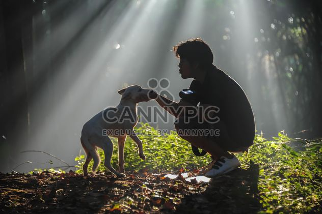 man with dog - Free image #186461