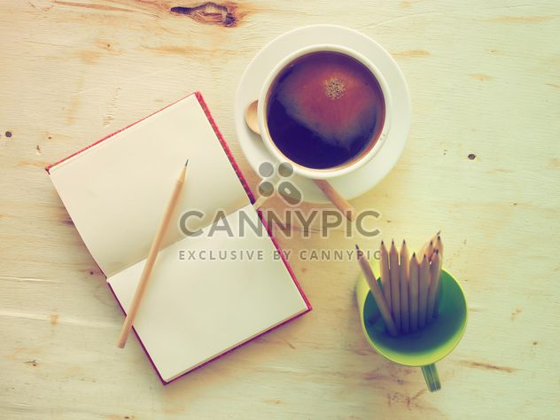 Cup of coffee and notebook - Free image #186911