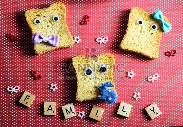 Funny toasts and word family of small cubes - Free image #187371