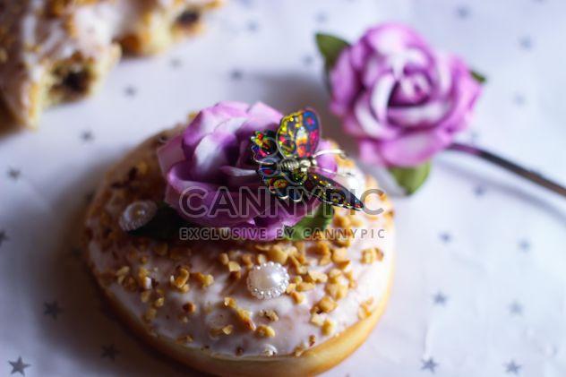 Christmas doughnut on the table - Free image #187451