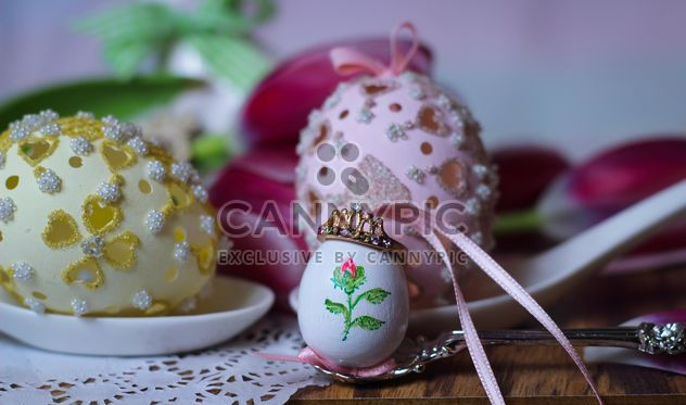 Easter cookies and decorative eggs - Kostenloses image #187591