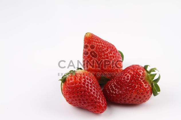 Strawberries on white - Free image #187831