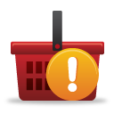 Shopping Basket Warning - Kostenloses icon #189791