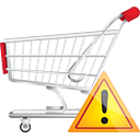 Shopping Cart Warning - Kostenloses icon #190681