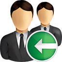 Business Users Previous - icon gratuit #190851