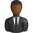 Black Business User - Free icon #191001