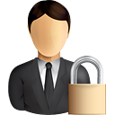 Business User Lock - icon gratuit #191021