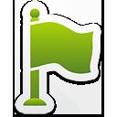 Зеленый флаг - бесплатный icon #192811