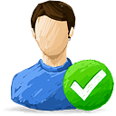 User Accept - icon gratuit(e) #193091