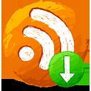RSS nach unten - Kostenloses icon #193321