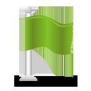 Bandera verde - icon #193791 gratis