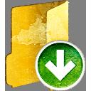 pasta para baixo - Free icon #194001