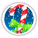Merry Christmas Candy Cane - icon gratuit #194641