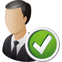 Business User Accept - icon gratuit #195201