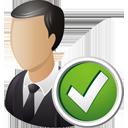 usuario de negocios aceptar - icon #195201 gratis