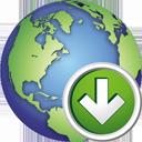 Globus nach unten - Free icon #195371