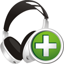 Headphones Add - Free icon #195391