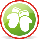 Christmas Gloves Rounded - icon gratuit #197051