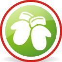 округлые Рождественская перчатки - бесплатный icon #197051