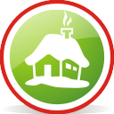 Snow House Rounded - icon gratuit(e) #197071
