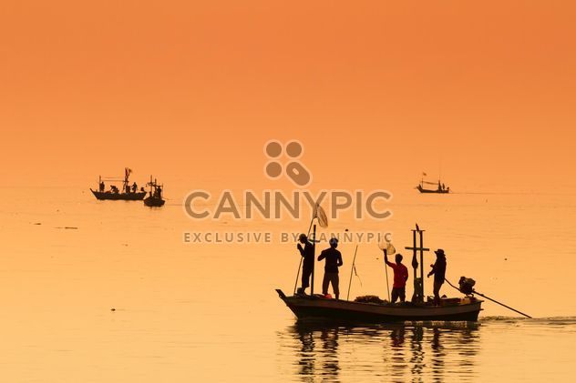 Fishermen on the boat - Free image #197991
