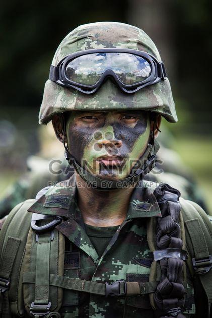 Retrato de soldado tailandés - image #198031 gratis