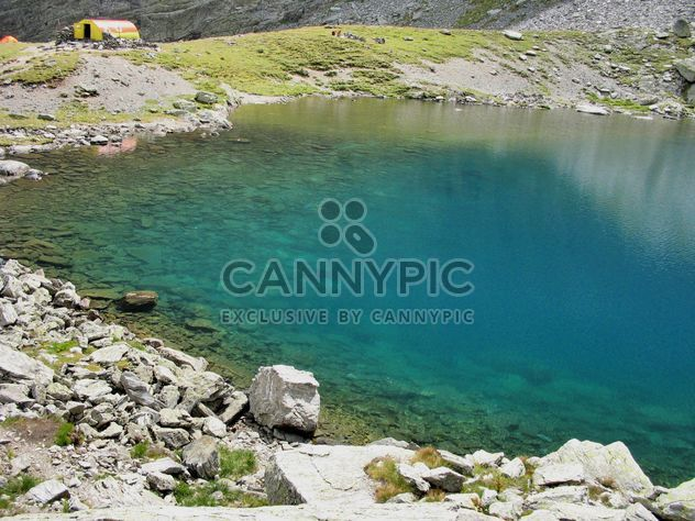 Glacier lake with turquoise water in Carpathians mountains - Free image #198131