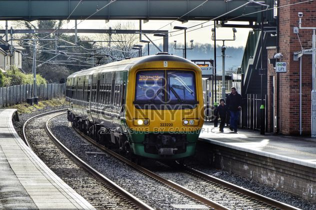 Train at railway station - Free image #198321