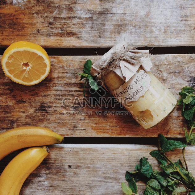 Bananas, lemon, mint and jam - Free image #198381