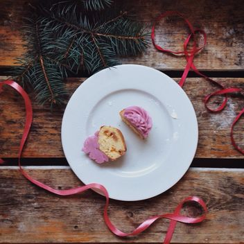 christmas cupcake - Kostenloses image #198441