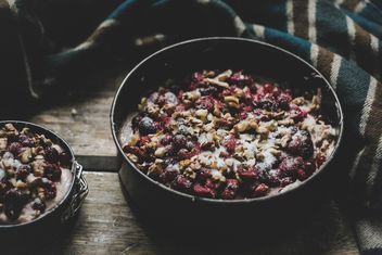 Cherry pie with nuts - бесплатный image #198471