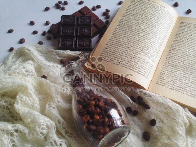 Grains de café, de chocolat et chaude écharpe - image gratuit(e) #198771