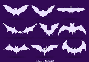 Bat silhouettes - Kostenloses vector #199121