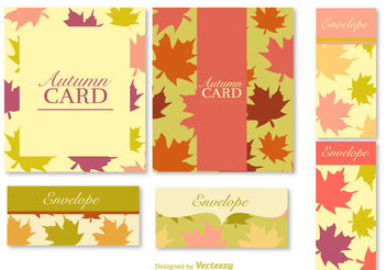 Autumn postcards and banners - vector gratuit #199331