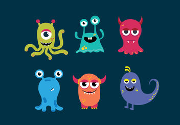 Monster faces - Free vector #199401