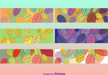 Leaves colorful banners - vector gratuit #199451