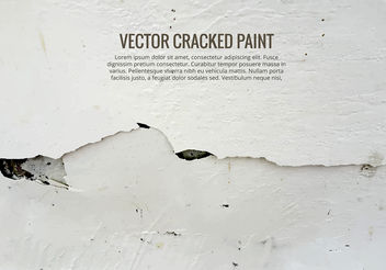 Cracked Paint Vector - Kostenloses vector #199481